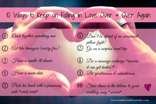 10 ways to keep on falling in love over & over again