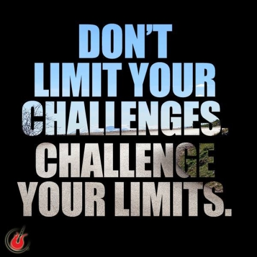 Don't limit your challenges. Challenge your limits.