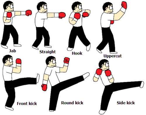 kickboxing basic moves