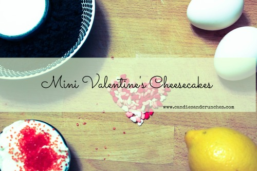 Mini Valentine's Cheesecakes ingredients