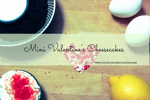 Mini Valentine's Cheesecakes ingredients