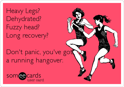 running hangover