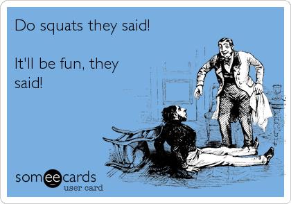 Squats funny