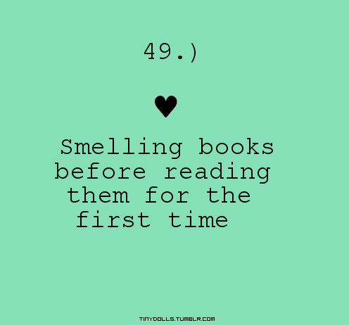 smelling books