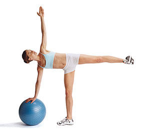 Standing Side-Splits with a Ball