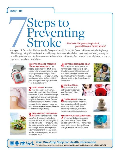 7 ways to prevent stroke