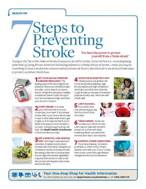 7 ways to prevent stroke
