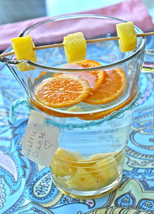 Pineapple-Orange Ginger water