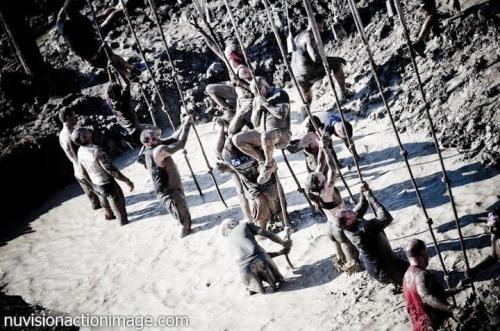 slippery rope climb