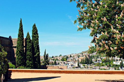 beautiful square in Alhambra