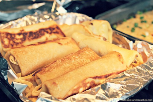 Savory crepes with meat filling