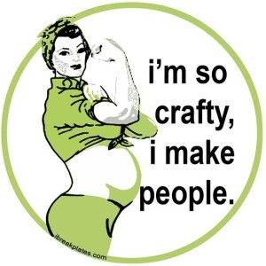 crafty-funny-green-haha-pregnant