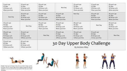 30 day upper body challenge