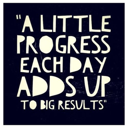 A little progress each day adds up to be results